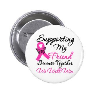Ayuda del cáncer de pecho (amigo) pin