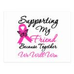 Ayuda del cáncer de pecho (amigo) postal