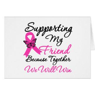 Ayuda del cáncer de pecho (amigo) tarjeta de felicitación