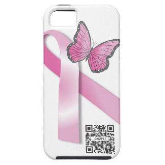 ayuda del cáncer de pecho de la plantilla del caso iPhone 5 funda