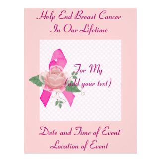 """Ayuda del cáncer de pecho folleto 8.5"""" x 11"""""""