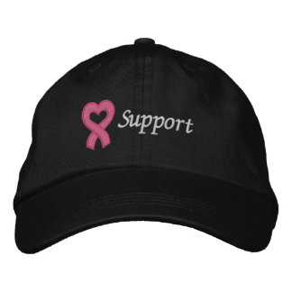 Ayuda del cáncer de pecho gorra bordada