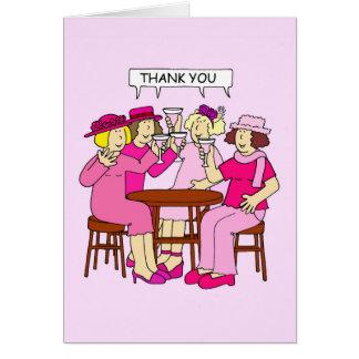Ayuda del cáncer de pecho, gracias, señoras en tarjeta de felicitación