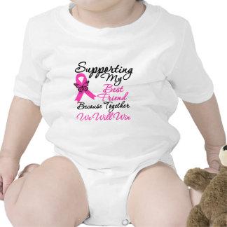 Ayuda del cáncer de pecho (mejor amigo) traje de bebé