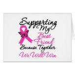 Ayuda del cáncer de pecho (mejor amigo) felicitaciones