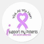 Ayuda del CÁNCER I mis pacientes Etiquetas Redondas