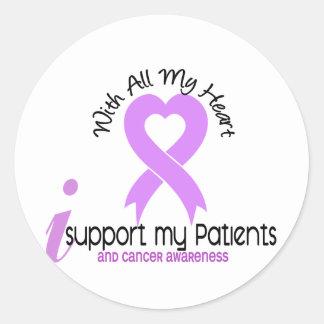Ayuda del CÁNCER I mis pacientes Pegatina Redonda