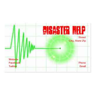 Ayuda del desastre plantilla de tarjeta de negocio