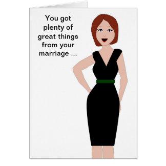 Ayuda del divorcio tarjeta de felicitación