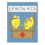 Ayuda del limón tarjetas postales