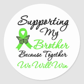 Ayuda del linfoma (Brother) Etiquetas Redondas