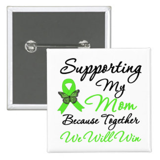 Ayuda del linfoma (mamá) pin cuadrado