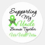 Ayuda del linfoma (tío) pegatinas redondas