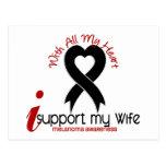 Ayuda del melanoma I mi esposa Tarjeta Postal