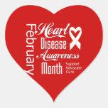Ayuda del mes de la conciencia de la enfermedad pegatina corazon personalizadas
