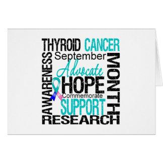 Ayuda del mes de la conciencia del cáncer de tiroi tarjeta de felicitación
