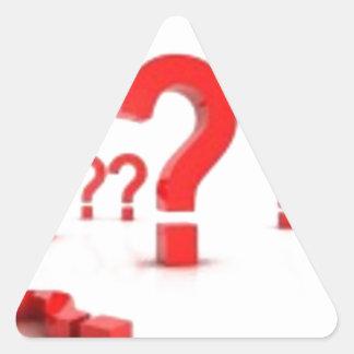 Ayuda del signo de interrogación calcomanía trianguladas personalizadas