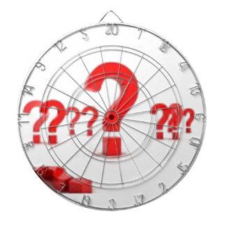Ayuda del signo de interrogación tablero dardos