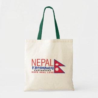 Ayuda del superviviente del terremoto de Nepal Bolsa Tela Barata