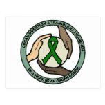 Ayuda del trasplante tarjetas postales