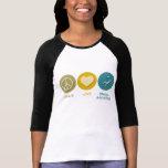 Ayuda dental del amor de la paz camiseta
