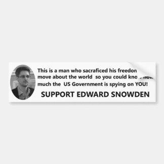Ayuda Edward Snowden Pegatina Para Auto
