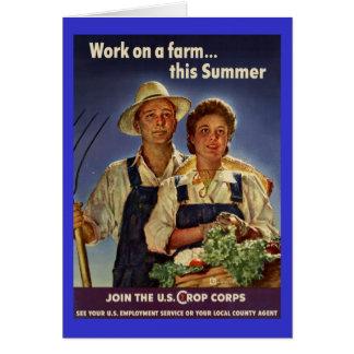 Ayuda en la protección de la granja durante WWII Tarjeta De Felicitación