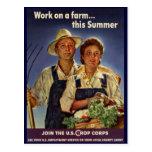 Ayuda en la protección de la granja durante WWII Postal