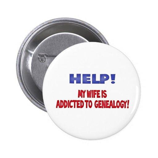 ¡Ayuda! Envician a mi esposa a la genealogía Pins