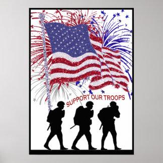 Ayuda exquisita nuestro poster del soldado de las