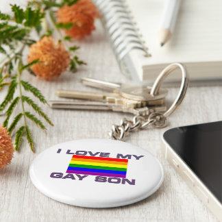 Ayuda gay l amor mi bandera gay del arco iris del llavero redondo tipo pin