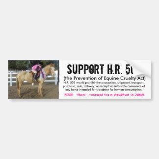 Ayuda H.R. 503 - prevención de la crueldad a los c Pegatina Para Auto