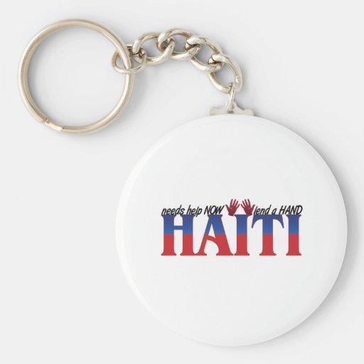 ayuda Haití Llavero Redondo Tipo Pin