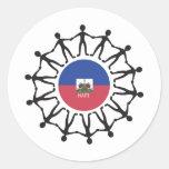 Ayuda Haití Pegatina Redonda