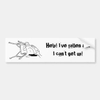 ¡Ayuda ¡He caído y no puedo levantarme bumperst Etiqueta De Parachoque