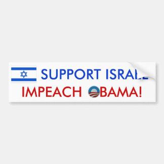 ¡Ayuda Israel! ¡Acuse a Obama! pegatina para el pa Pegatina Para Auto