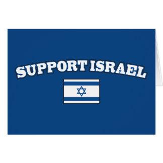 Ayuda Israel con la bandera Tarjeta De Felicitación