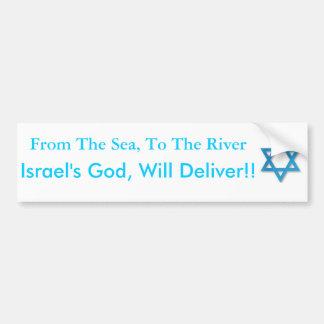 ¡Ayuda Israel! ¡Del mar al río! Pegatina Para Auto