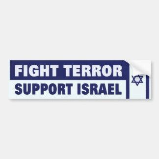 Ayuda Israel del terror de la lucha Pegatina De Parachoque