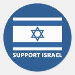 Ayuda Israel Pegatina Redonda