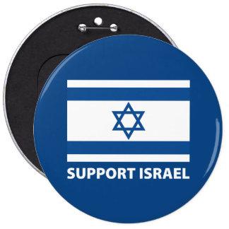 Ayuda Israel Pin Redondo De 6 Pulgadas