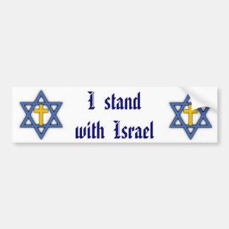 Ayuda judía cristiana para Israel. Etiqueta De Parachoque