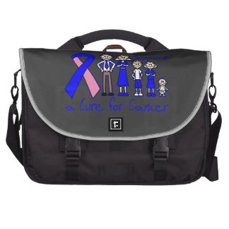 Ayuda masculina de la familia del cáncer de pecho bolsas para portatil