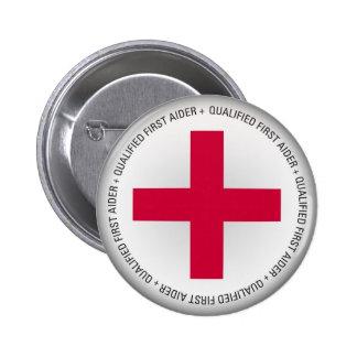 Ayuda médica calificada del primer Aider Pin Redondo De 2 Pulgadas