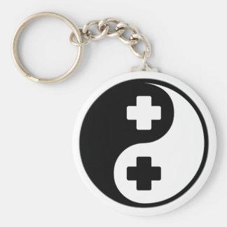Ayuda médica de Yin Yang Llaveros Personalizados