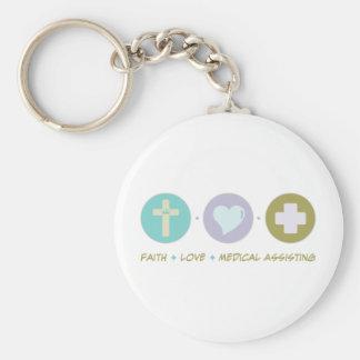 Ayuda médica del amor de la fe llaveros