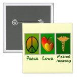Ayuda médica del amor de la paz pins