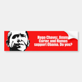Ayuda obama de Anti-Obama - de Hugo Chavez y de Ha Pegatina Para Auto