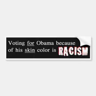 Ayuda Obama de los racistas Pegatina De Parachoque