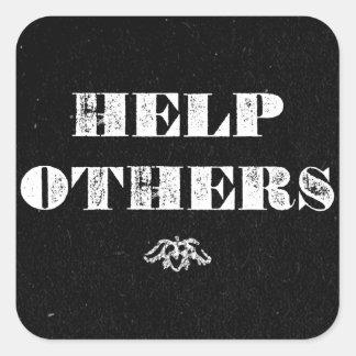 Ayuda otras pegatina cuadrada